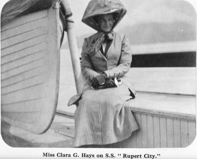 Miss Clara Gregg Hays widow of Charles Melville Hays