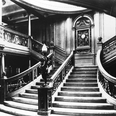 RMS Titanic's Magnificent Central staircase, First Class