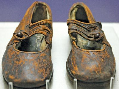 The Brown Shoes used to identify Sidney Leslie Goodwin
